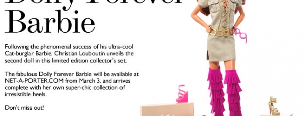 Christian 'Ken' Louboutin zijn 2e barbie: Dolly Forever