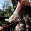 Een stevige wandeling maken op je outdoor-stiletto's